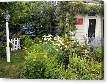 Garden Cottage Canvas Print by Bill Wakeley