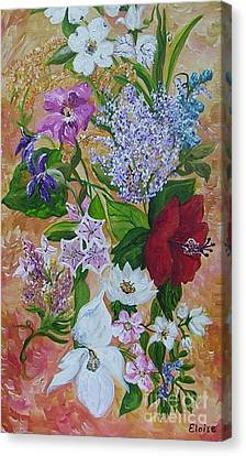 Canvas Print featuring the painting Garden Delight by Eloise Schneider