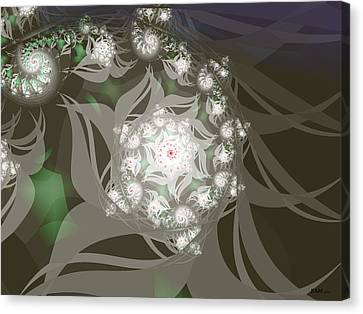 Canvas Print featuring the digital art Garden Echos by Elizabeth McTaggart