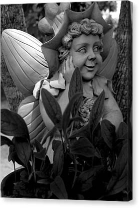 Garden Fairy Statue Canvas Print