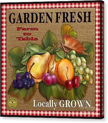 Garden Fresh-jp2386 Canvas Print by Jean Plout