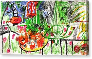 Garden Gala Canvas Print by Anita Dale Livaditis