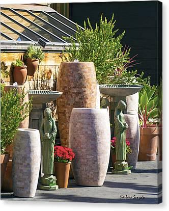 Garden Gallery Morro Bay  Canvas Print by Barbara Snyder