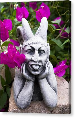 Garden Gargoyle Canvas Print by William Patrick