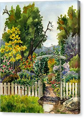 Garden Gate Canvas Print by Anne Gifford