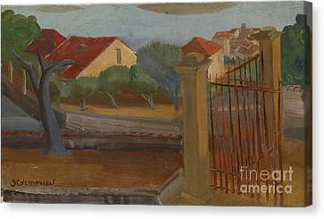 Garden Gate Canvas Print by Celestial Images