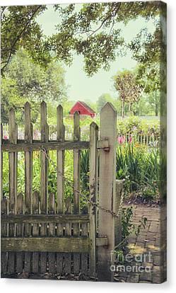 Garden Gate Canvas Print by Margie Hurwich