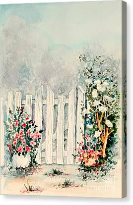 Garden Gate Canvas Print by Pattie Calfy