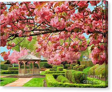 Garden Gazebo Canvas Print