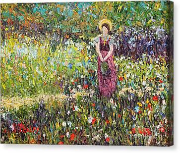 Garden Girl Canvas Print by Pattie Calfy