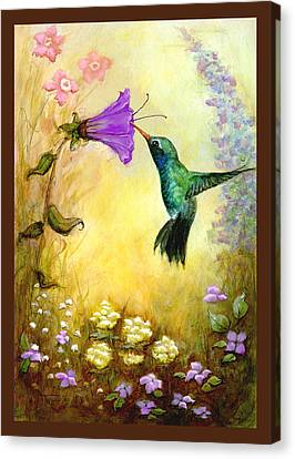 Canvas Print featuring the mixed media Garden Guest In Brown by Terry Webb Harshman