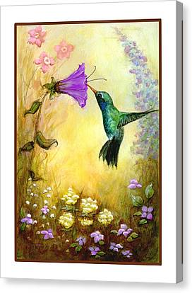 Canvas Print featuring the mixed media Garden Guest by Terry Webb Harshman