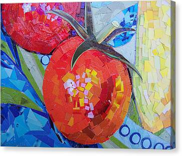 Garden Harvest Collage Detail Canvas Print