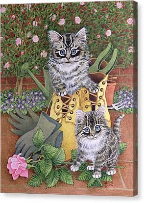 Garden Helpers  Canvas Print by Pat Scott