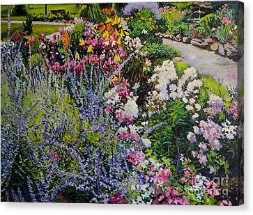 Garden In Full Sun Canvas Print