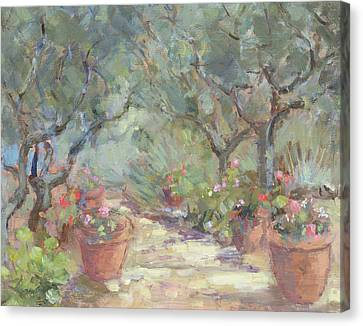 Garden In Porto Ercole, Italy Canvas Print