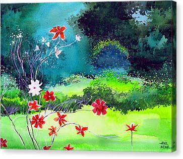 Garden Magic Canvas Print by Anil Nene
