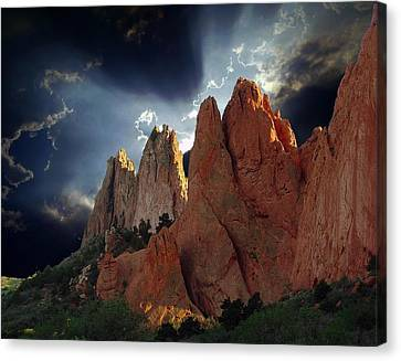 Garden Megaliths With Dramatic Sky Canvas Print