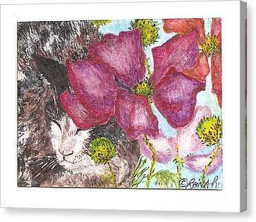 Garden Nap Canvas Print