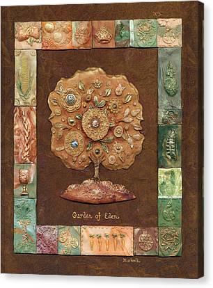 Garden Of Eden Canvas Print by Michoel Muchnik