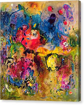 Drips Canvas Print - Garden Of Heavenly And Earthly Delights by Jane Deakin