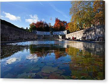 Garden Of Remembrance, Parnell Square Canvas Print by Panoramic Images