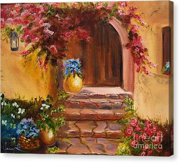 Canvas Print featuring the painting Garden Of Serenity by Jenny Lee