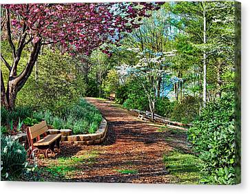 Dogwood Lake Canvas Print - Garden Of Serenity by Kenny Francis