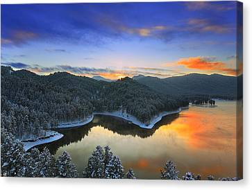 Canvas Print featuring the photograph Garden Of The Gods by Kadek Susanto