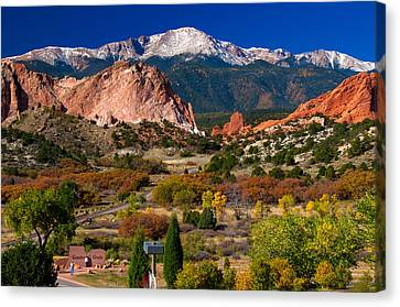 Garden Of The Gods In Autumn 2011 Canvas Print