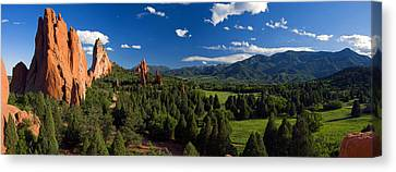 Garden Of The Gods Panorama At It's Best Canvas Print