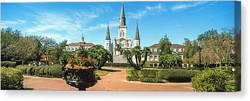 St.louis Cathedral Canvas Print - Garden Of The St. Louis Cathedral by Panoramic Images