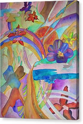 Garden Path Canvas Print by Judy Via-Wolff