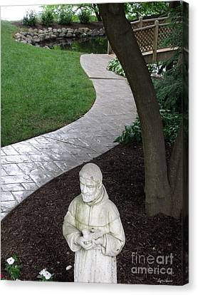 Garden Path St. Francis Canvas Print by Lyric Lucas
