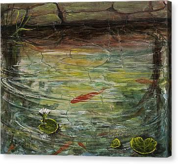 Garden Pond Canvas Print