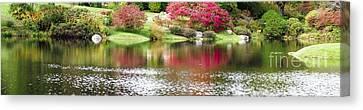 Garden Pond Canvas Print by Oscar Gutierrez