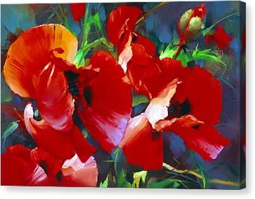 Garden Poppies. Canvas Print