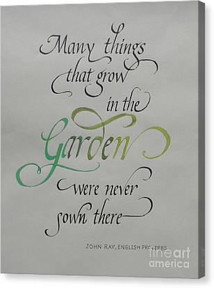 Garden Quote Canvas Print by Gloria Cooper