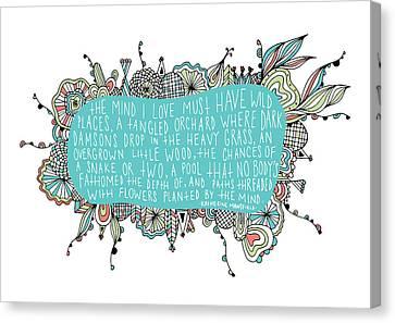 Garden Quote Canvas Print by Susan Claire