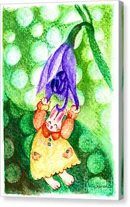 Garden Rabbit-2 Hosta Canvas Print by Vin Kitayama