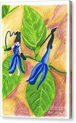 Garden Rabbit20 Salvia Guaranitica Canvas Print by Vin Kitayama