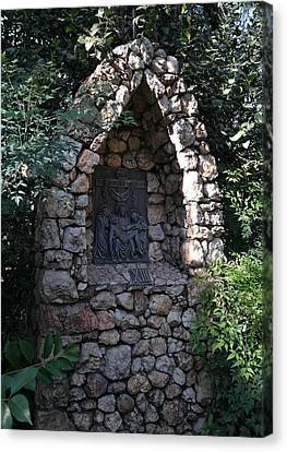 Wayside Cross Canvas Print - Garden Shrine - 13th Station Of The Cross by Michele Myers