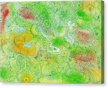 Garden - #ss14dw087 Canvas Print by Satomi Sugimoto