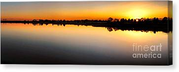 Garden State Sunset Canvas Print by Olivier Le Queinec