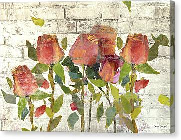 Garden Stems On Brick I Canvas Print