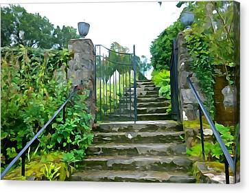Garden Steps Canvas Print by Charlie and Norma Brock