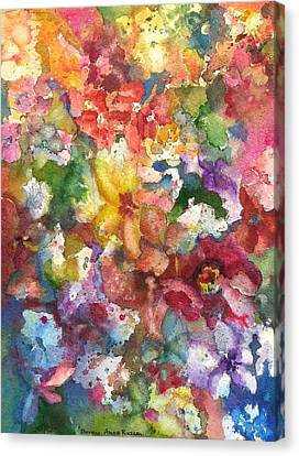 Garden - The Secret Life Of The Leftover Paint Canvas Print by Anna Ruzsan