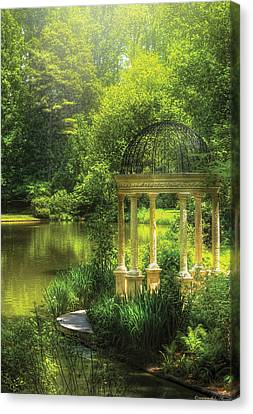 Personalized Canvas Print - Garden - The Temple Of Love by Mike Savad