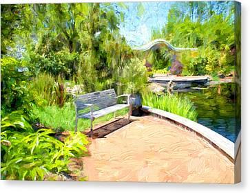 Garden View Series 28 Canvas Print