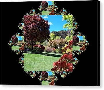 Garden Walk Fractal Canvas Print by Nancy Pauling